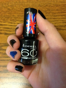 rimmel nailpolish black