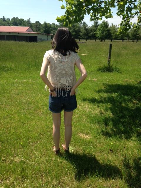 dark wash shorts 2