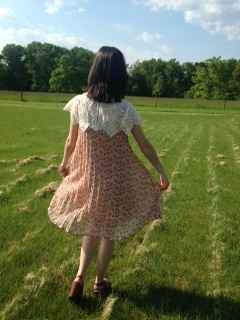 floral and lace dress 8