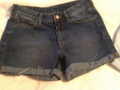 shorts dark wash