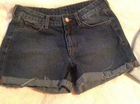 shorts dark wash