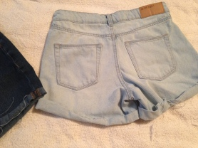 shorts light wash