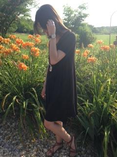 black tshirt dress 2