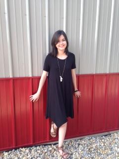 black tshirt dress 3