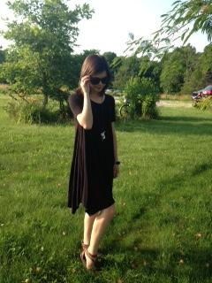 black tshirt dress 5