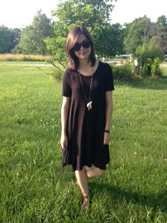 black tshirt dress 6