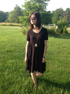 black tshirt dress 7