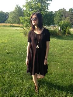black tshirt dress 7