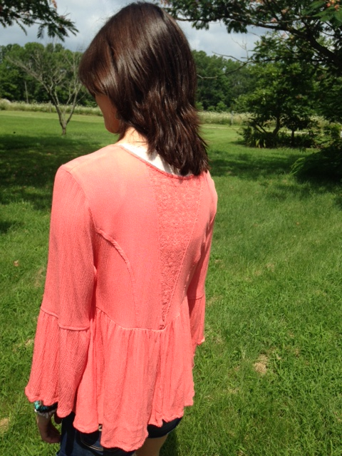 Coral with lace top 8