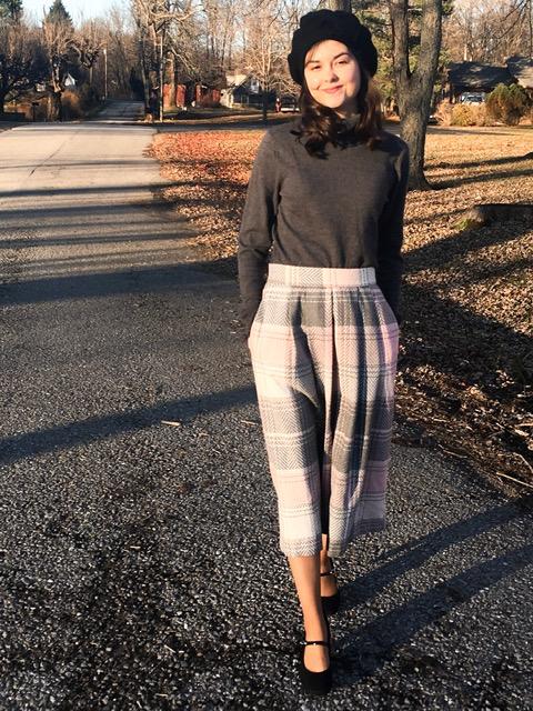 pink plaid skirt 4