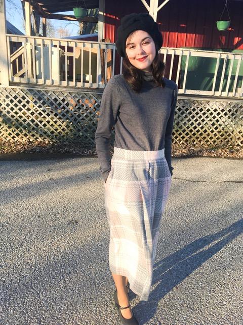 pink plaid skirt 6