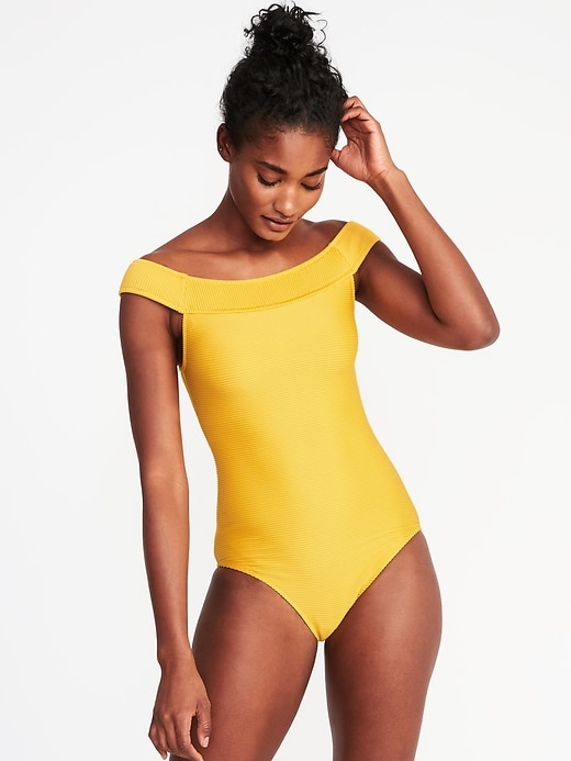 old navy yellow one piece
